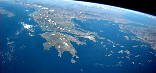 Greece from ISS